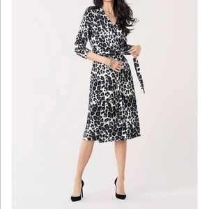 Lafayette 148 New York Wrap-Front Knotted Dress